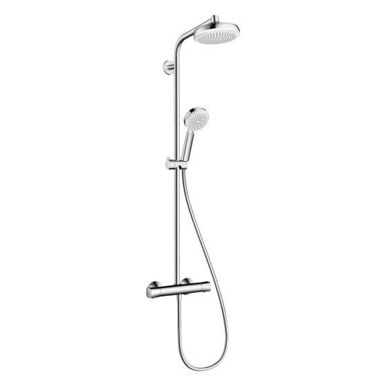 Crometta Showerpipe Crometta 160 1jet - blanc/chromé - Hansgrohe 27264400