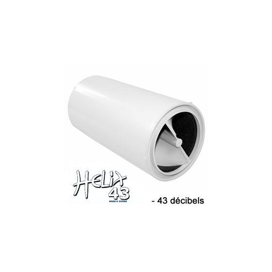 Réducteur acoustique hélicoïdal Blanc HELIX 43