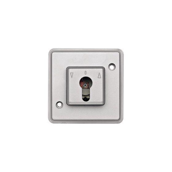 Interrupteur bipolaire IP44  à clé pour volet roulant anti-vandalisme