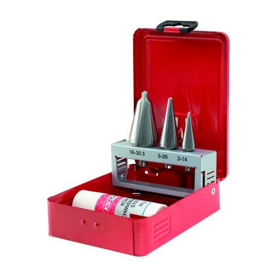 Jeu de forets aléseurs coniques HSS - 4 pièces KS Tools 336.0503