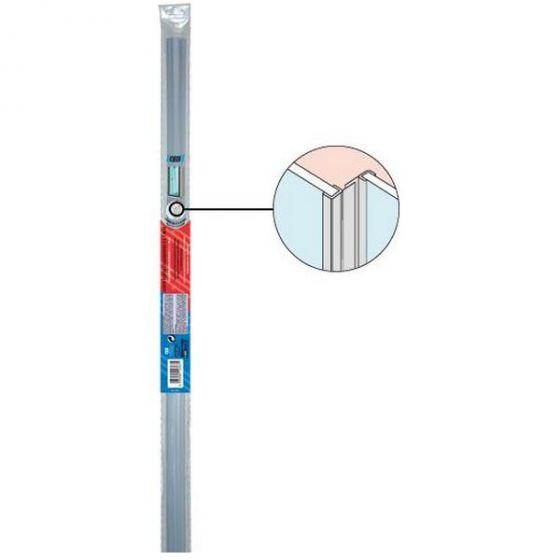 Joints (x2) côté de porte de douche coulissante - Verre 5 à 8mm - 1,95ml