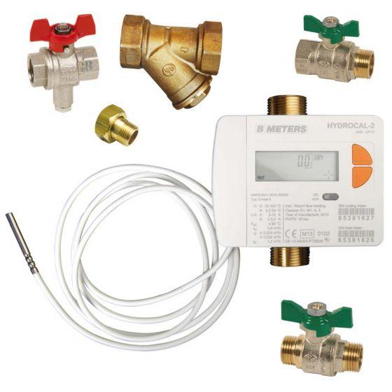 """Kit compteur d'énergie MID 50 Calibre 15 - Mâle 3/4"""" (20x27) + accessoires"""