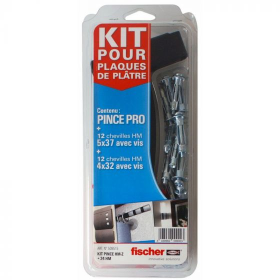 Kit pince expansion + 24 chevilles métalliques HM