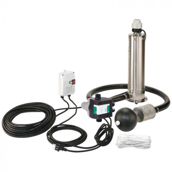 KIT Pompe puits Inox WILO Sub TWI 5 SE 304 mono Plug & Pump - 5 m3/h à 12 m/CE