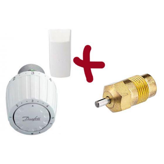 Kit tête thermostatique RA/VL 2952 + presse étoupe de rechange