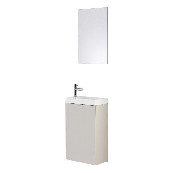 Lave main meuble Tortora Duofix avec miroir