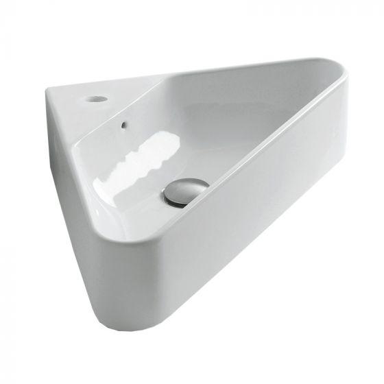 lave mains c ramique blanc brillant isocel. Black Bedroom Furniture Sets. Home Design Ideas
