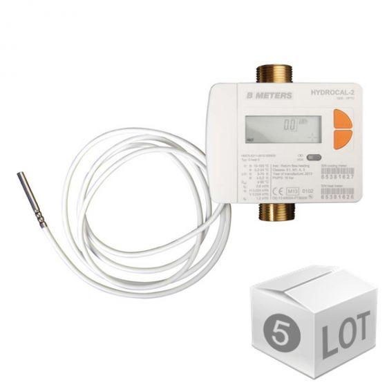 """Lot de 5 Compteurs d'énergie MID R50 (calories et frigories) Calibre 20 - Mâle 1"""" (26x34)"""