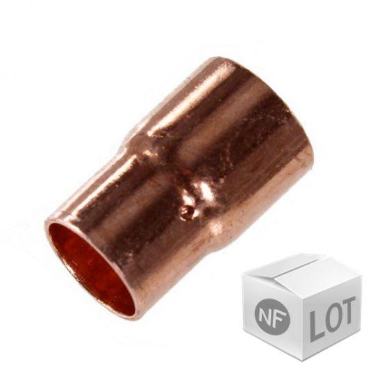 Lot de 10 réductions cuivre NF à souder FF