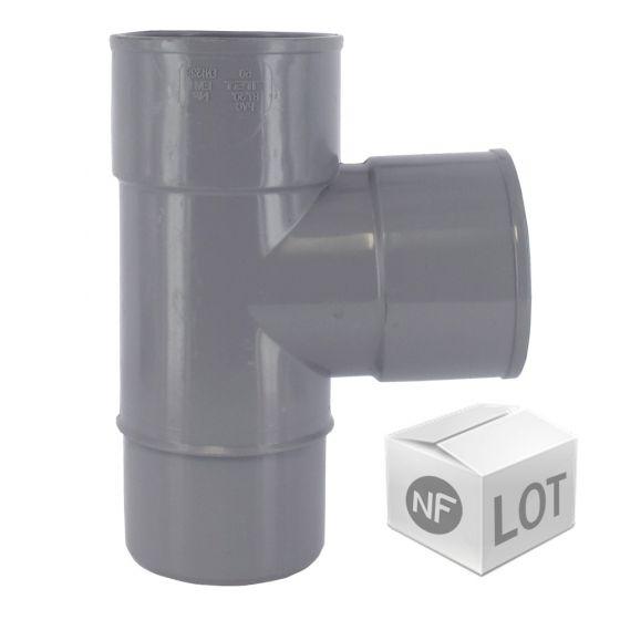 Lot de raccord PVC - Culotte 87°30 Mâle Femelles FIRST-PLAST