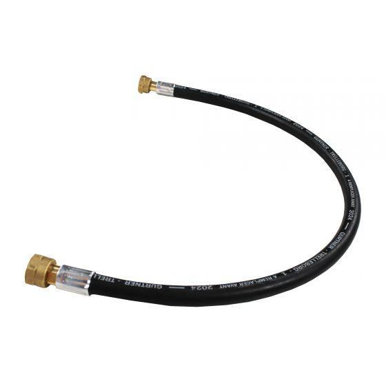 Lyre gaz propane butane - 5 ans - 70cm - pression maxi 16bar - entrée et sortie 20x150