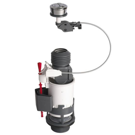 Mécanisme de chasse MW2 NF à câble et poussoir double débit WIRQUIN
