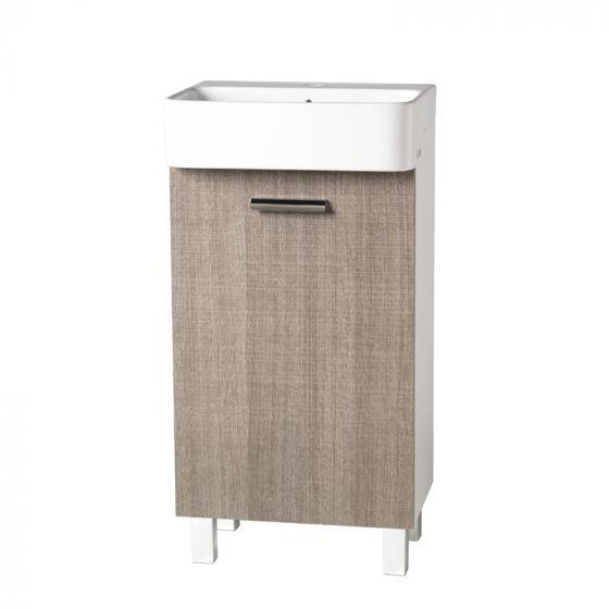 Petit meuble lavabo 45/35/60cm Beige toilé - Ondyna MT5351C