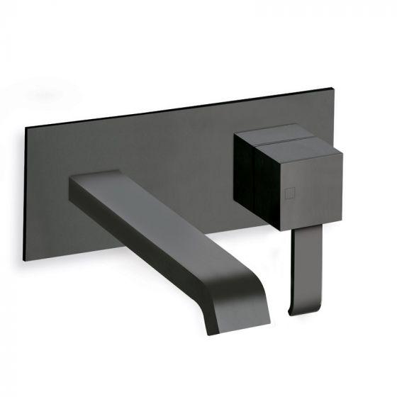 Mitigeur lavabo mural 180mm Blackmat Quadri - Ondyna QM27613