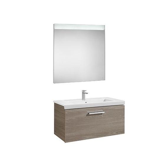 Pack Unik PRISMA 800 - Meuble 1 tiroir, lavabo et miroir à LED