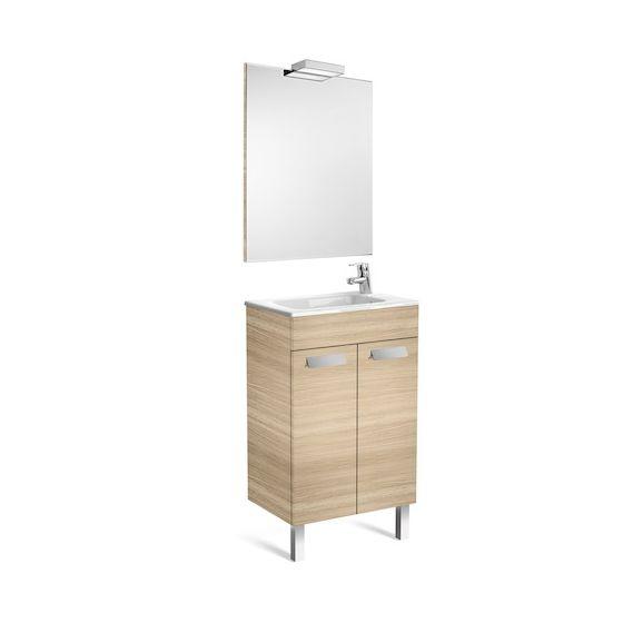 Pack Unik DEBBA compact 500 2 portes, lavabo, miroir et applique
