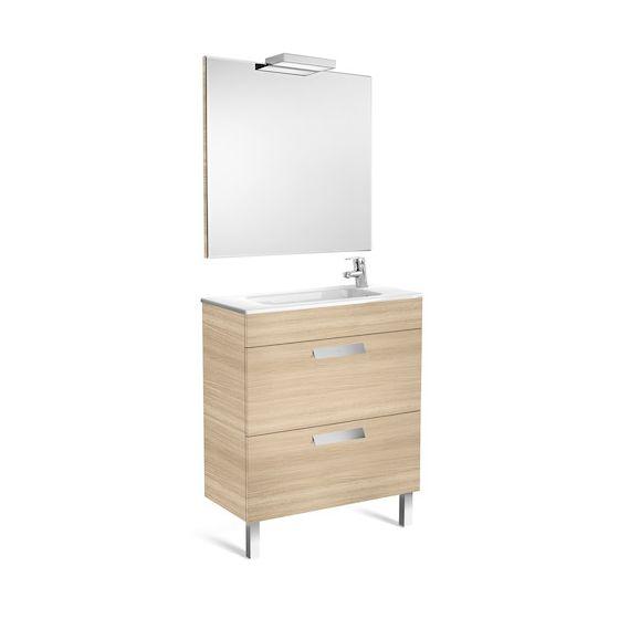 Pack Unik DEBBA compact 700 2 tiroirs, lavabo, miroir et applique