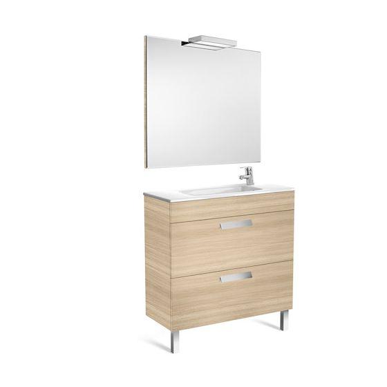 Pack Unik DEBBA compact 8002 tiroirs, lavabo, miroir et applique