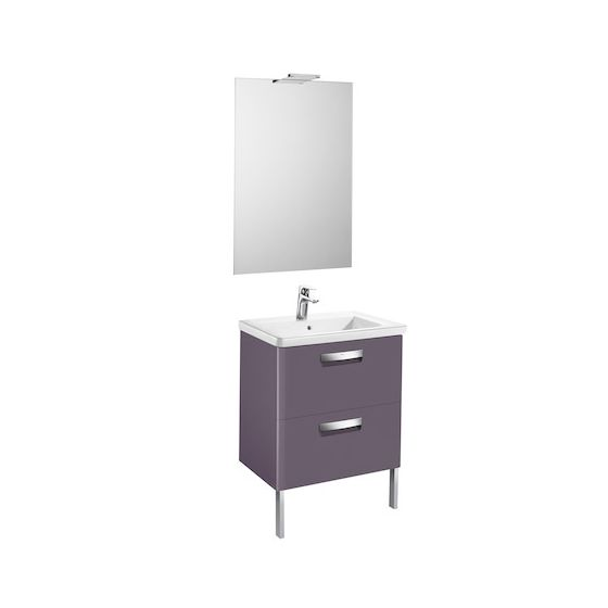 Pack Unik THE GAP 600 2 tiroirs, lavabo, miroir et applique LED