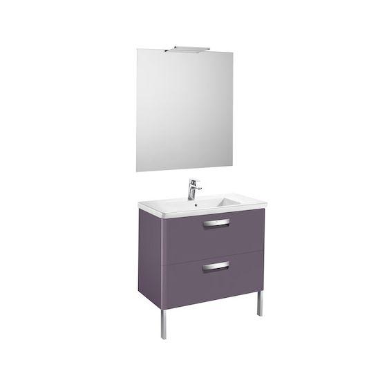 Pack Unik THE GAP 800 2 tiroirs, lavabo, miroir et applique LED