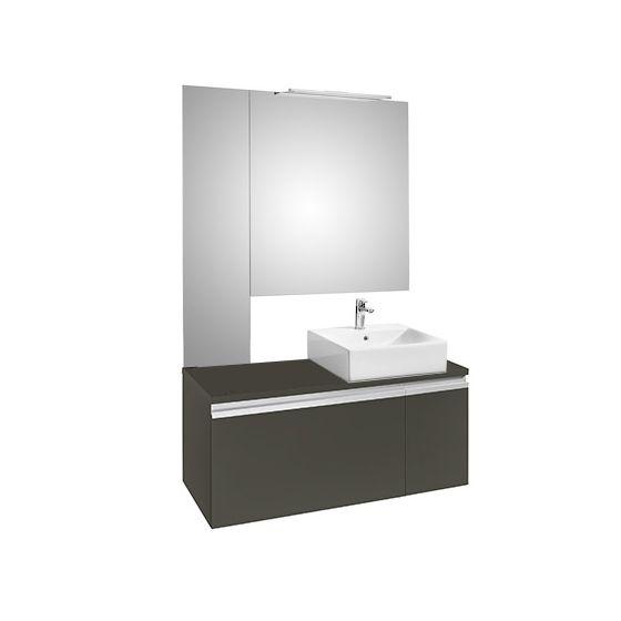 Ensemble HEIMA 1100 Meuble,  miroirs et applique