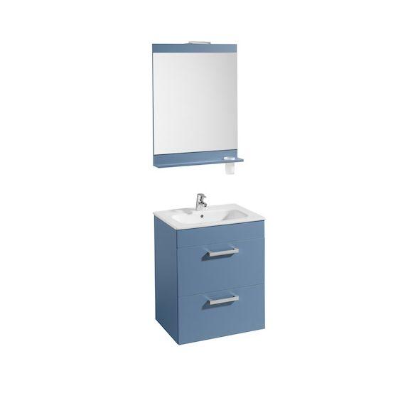 Pack Unik JOLI 600 2 tiroirs, lavabo, miroir et applique