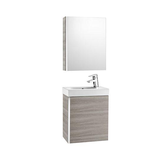 Pack Unik MINI 450 meuble, lave-mains, miroir et armoire de toilette