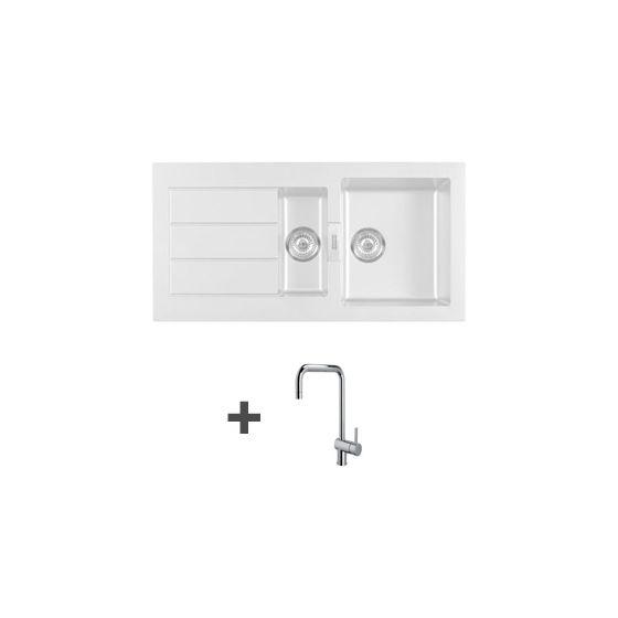 pack vier franke sirius tectonite blanc artic 1 1 2. Black Bedroom Furniture Sets. Home Design Ideas