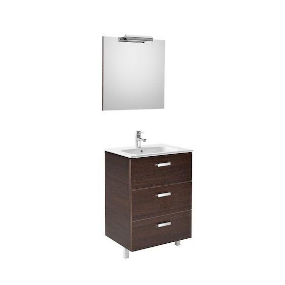 Pack Unik VICTORIA Family 600 3 tiroirs, lavabo, miroir et applique