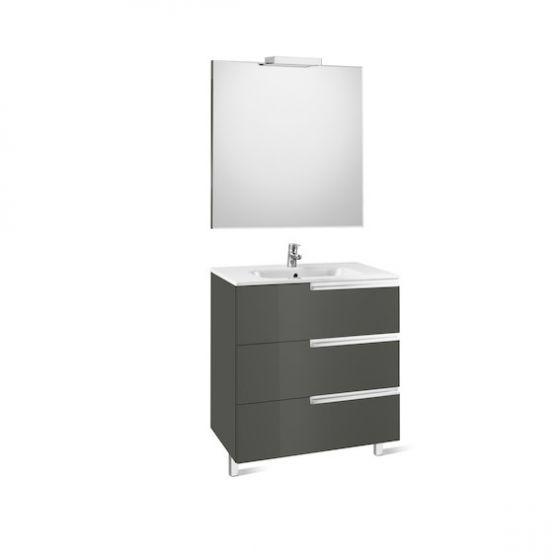 Pack Unik VICTORIA-N Family 1000 3 tiroirs, lavabo, miroir et applique