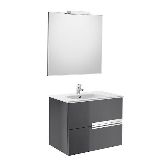 Pack Unik VICTORIA-N Family 700 2 tiroirs, lavabo, miroir et applique