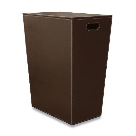 Panier à linge marron foncé Ecopelle 60cm