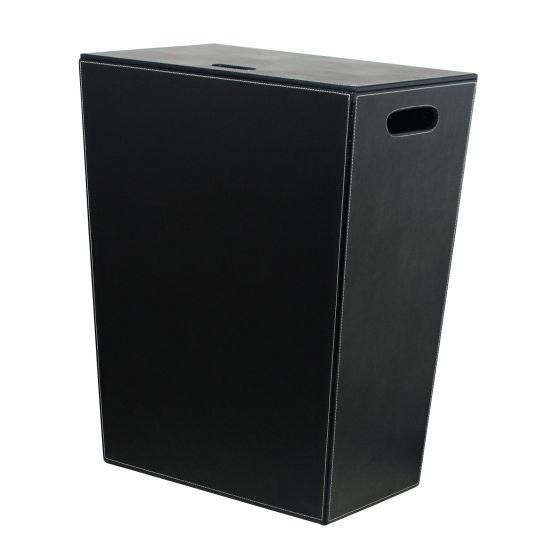 panier linge noir ecopelle 60cm