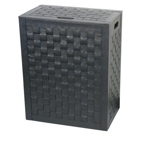 Panier à linge noir Intrecci 50cm