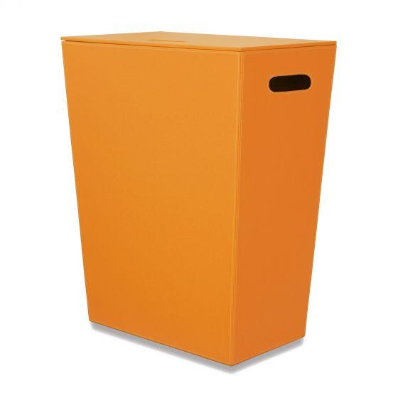 Panier à linge orange Ecopelle 60cm