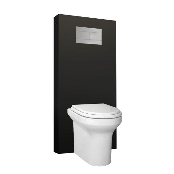 Panneau WC QR-BOX Régiplast Noir au sol - sans cuvette