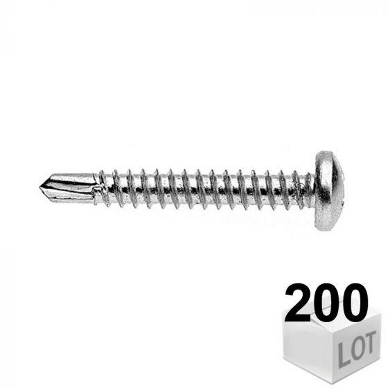 Vis autoperceuse tête pozi 4,8x19 - Boîte de 200 vis