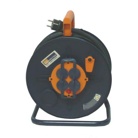 Enrouleur de câbles 3G 2,5 (25m) + 4 Prises