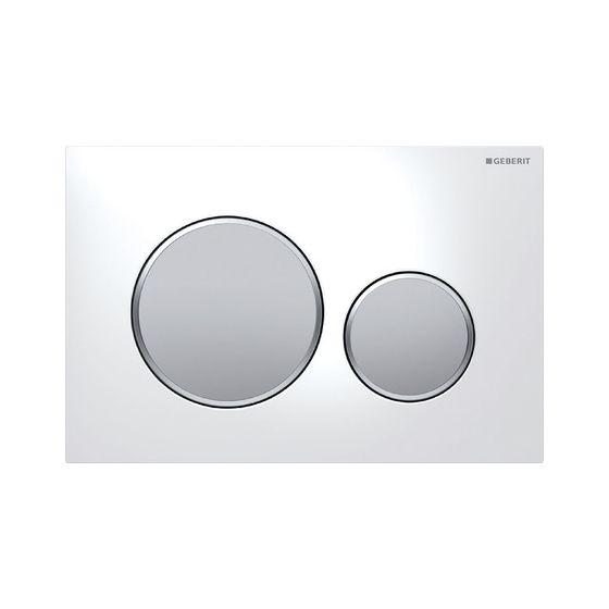 Plaque de déclenchement wc SIGMA 20 - Blanc et chromé mat