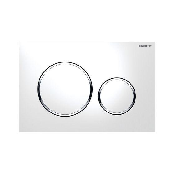 Plaque de déclenchement wc SIGMA 20 - Blanc et chromé