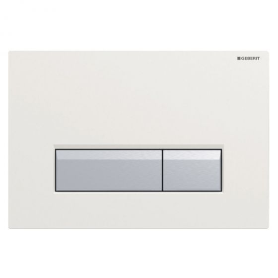 Plaque de déclenchement SIGMA 40 DuoFresh - Blanc/aluminium brossé