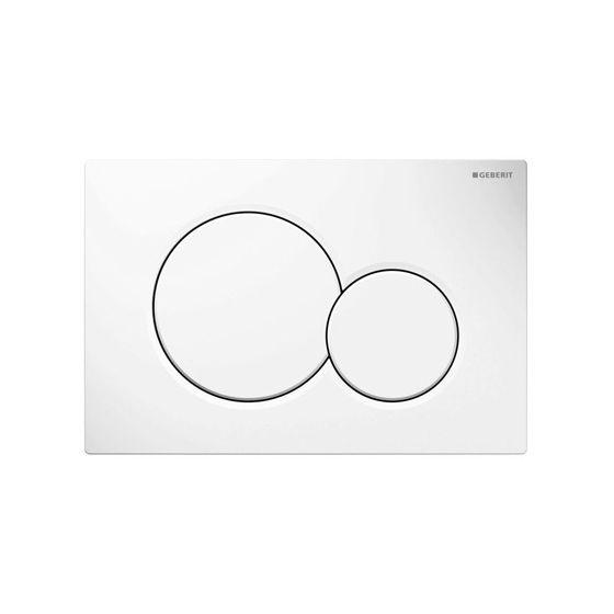 Plaque de déclenchement blanche SIGMA01 pour bâti-support UP320