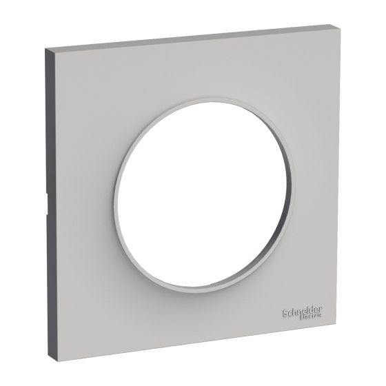 Plaque de finition ODACE Styl 1 poste - Sable - S520702B1