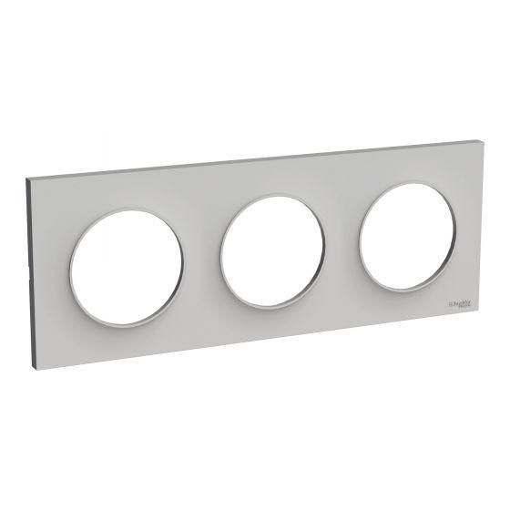 Plaque de finition ODACE Styl 3 postes - Sable - S520706B1