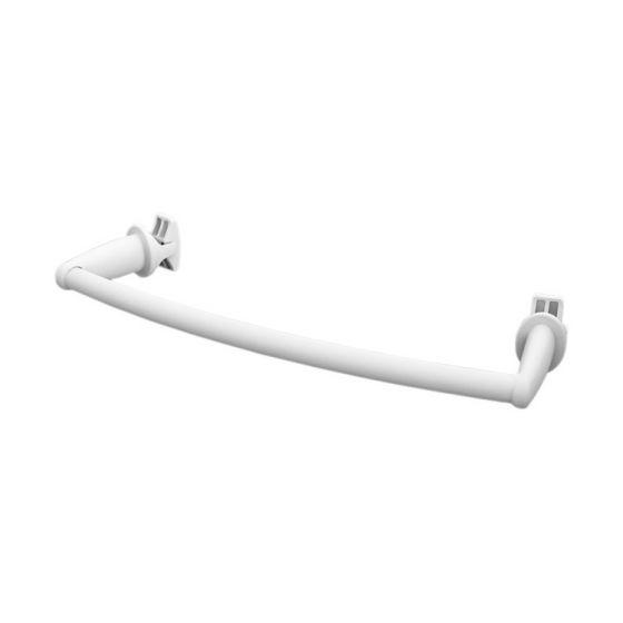 Porte-serviettes universel pour radiateur sèche-serviettes cintré - 430mm - Blanc