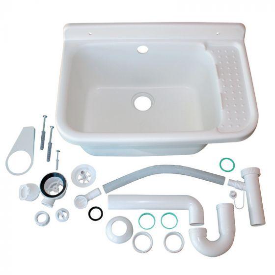 Poste d'eau polypropylène blanc 59x39x27cm