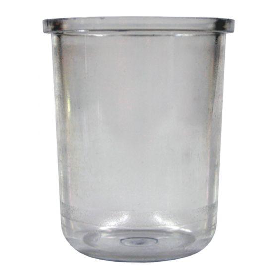 Pot transparent RGTK pour Filtre bitube RG2