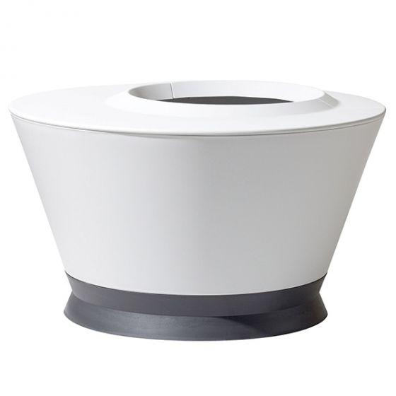 Table basse IKÔNE IK2+ Blanc cérusé, gris anthracite - Ø 76 x H 44,7 cm - Volume 105L