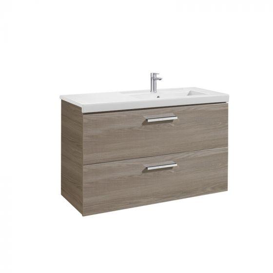 Meuble Unik PRISMA 1100mm 2 tiroirs, lavabo à gauche ou droite