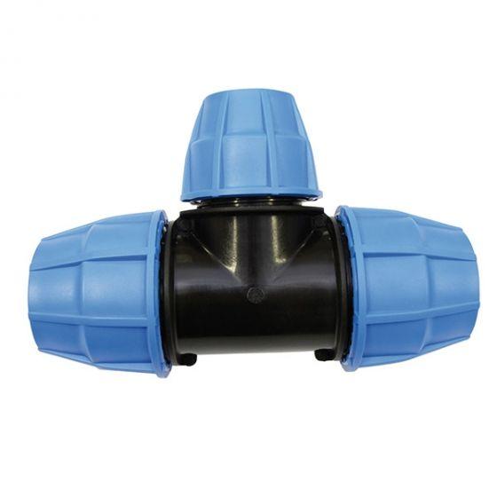Raccord plastique tube PE - Raccord en T centre réduit